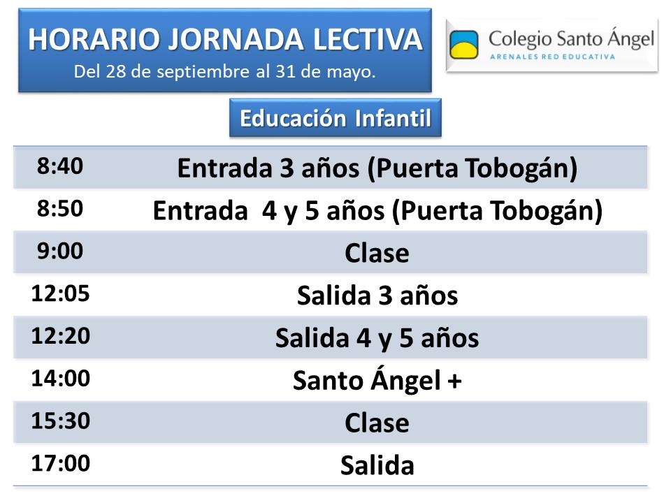 Horario Educación Infantil